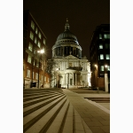 St. Paul's and Paternoster Square, night