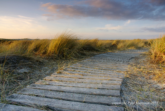 Slatted wooden path, Wittering beach, Sussex