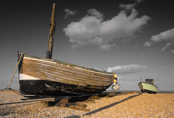 Two Fishing Boats Dungeness By Paul Harrison Landscape