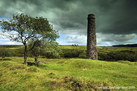 Powder Mill chimney, Dartmoor